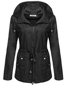 ANGVNS Women's Waterproof Lightweight Rain Jacket