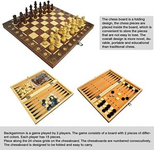 CHUWUJU 3 in 1 Magnetic Chess Board