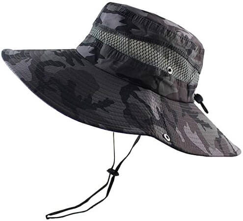 CAMOLAND Wide Brim Outdoor UPF 50+ Fishing Hat