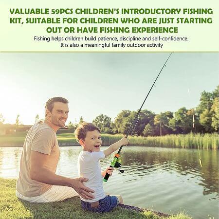Hozzen Kids Fishing Pole and Reel Combo