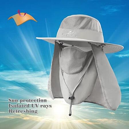 KOOLSOLY UPF 50+ Fishing Sun Hat
