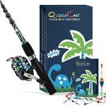 QudraKast Kids Fishing Pole and Reel Combo