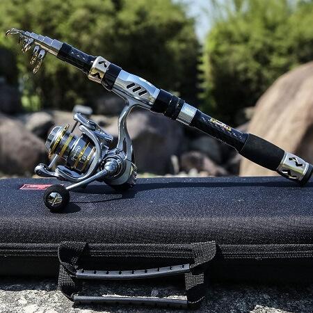 SOUGAYILANG TELESCOPIC FISHING ROD AND REEL COMBO