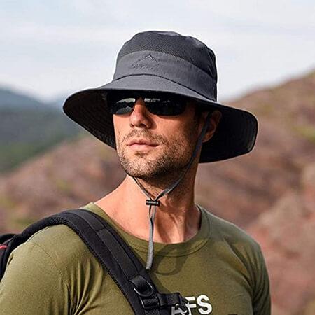 Strip Outdoor UV Sun Protection Fishing Hat