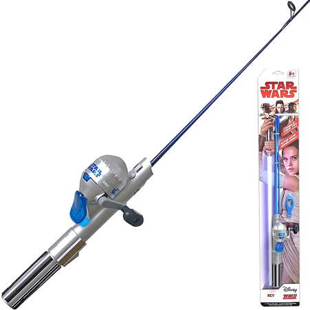 Zebco Star Wars Spincast Reel and Light-Up Fishing Rod Combo